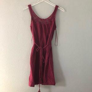 🌸 American Eagle | maroon crochet mini dress